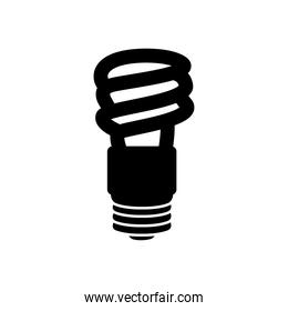 spiral bulb light icon, silhouette style