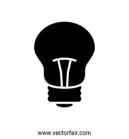 traditional bulb light icon, silhouette style