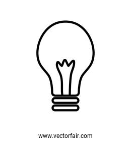 simple light bulb icon, line style