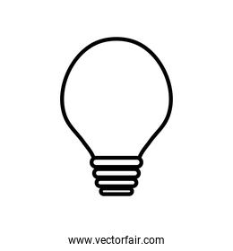 globe light bulb icon, line style