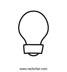 classic bulb light icon image, line style