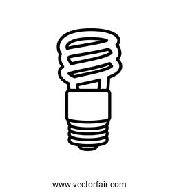 spiral bulb light icon, line style