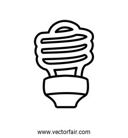 cfl bulb light icon, line style