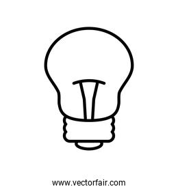 traditional bulb light icon, line style