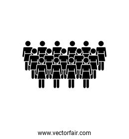 pictogram people women icon, silhouette style