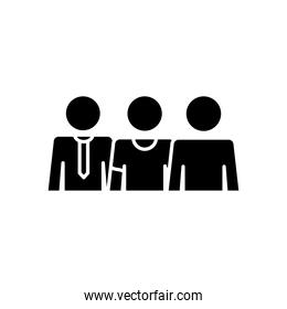 pictogram businessman and men icon, silhouette style