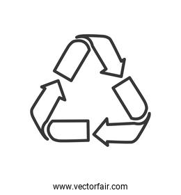 recycle symbol icon image, line style
