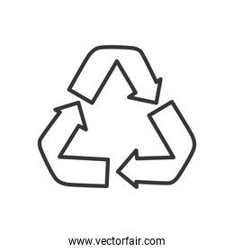 recycle symbol icon, line style