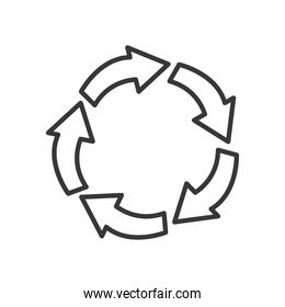 arrows in circle shape icon, line style