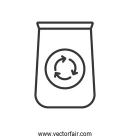recycle cup icon, line style