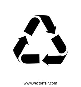 recycle symbol design image, silhouette style
