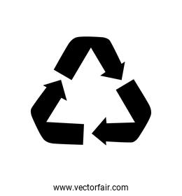 recycle symbol icon, silhouette style