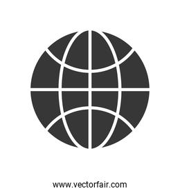 global network icon, silhouette style