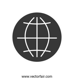 global connect icon, silhouette style