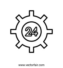 gear wheel with 24 hours service, line style