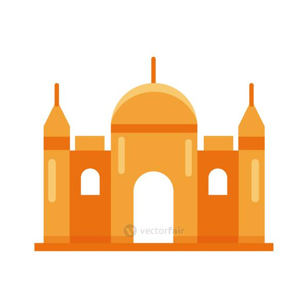 mosque muslim temple flat style icon