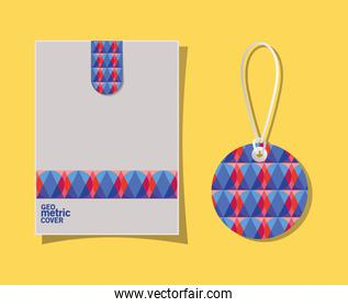 Geometric cover envelope and label vector design
