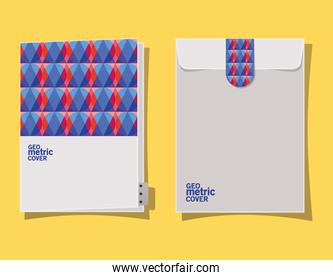 Geometric cover file and envelope vector design