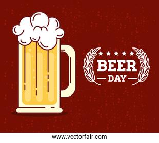 international beer day, august, beer mug