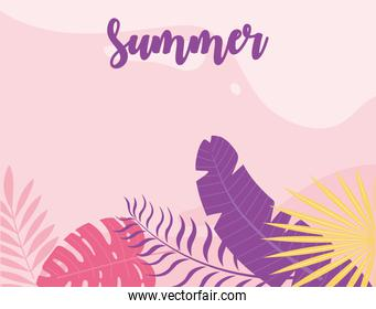 summer time vacation tourism foliage leaves nature banner