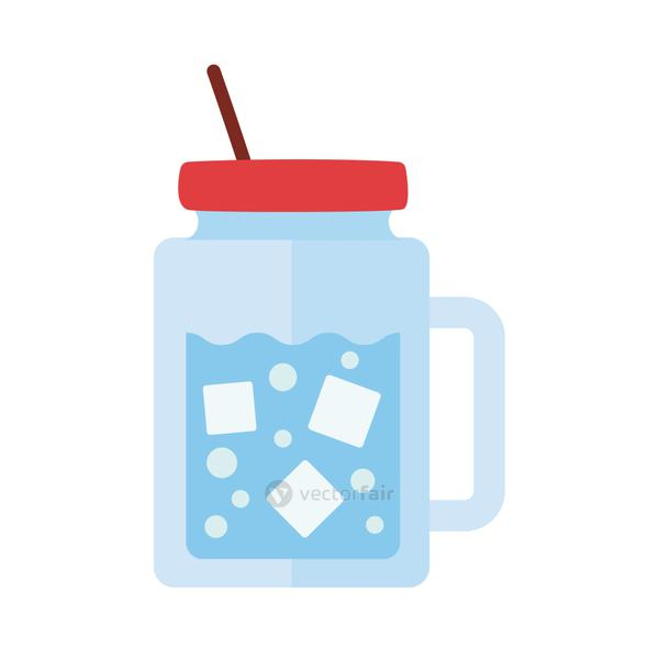 water in mug drink flat style icon