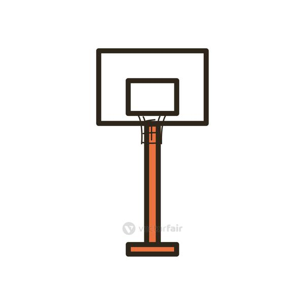 backboard of basketball line and fill style icon vector design