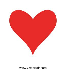 heart flat style icon vector design