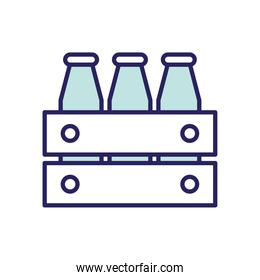 milk box line and fill style icon vector design