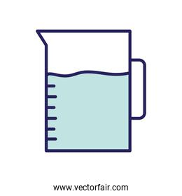 milk jar line and fill style icon vector design