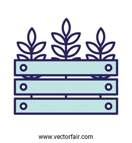 Wheat ears in basket line and fill style icon vector design