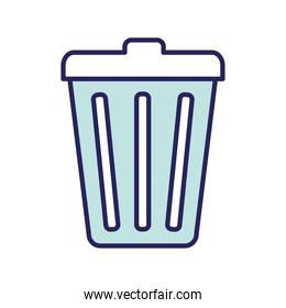 trash line and fill style icon vector design