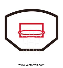basketball hoop icon on white background