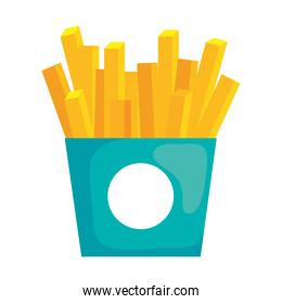 Isolated french fries vector design