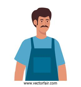 painter man with overall vector design