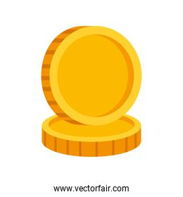 Isolated coins icons vector design