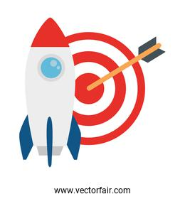 rocket and target vector design