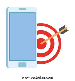 smartphone and target vector design