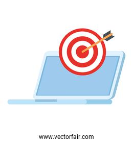 target over laptop vector design