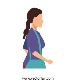 young woman casual avatar character