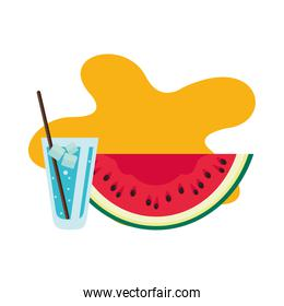 watermelon fresh with ice drink icon