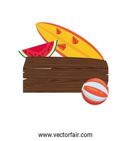 label wooden signal summer icon