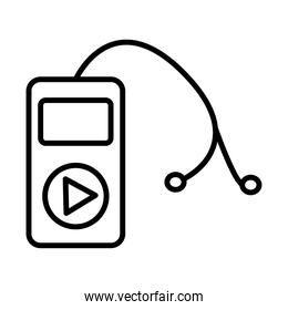 mp3 music player device line style icon