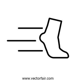 runner foot line style icon