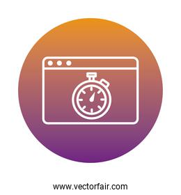 chronometer timer in webpage template block style icon