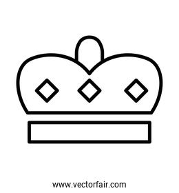 royal crown of prince line style icon