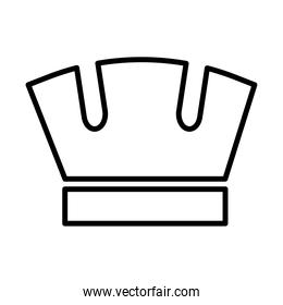 royal crown of mural line style icon