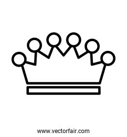 royal crown of count line style icon