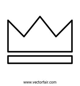 royal crown of infant line style icon