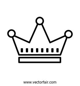 royal crown of viscount line style icon