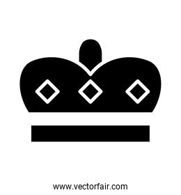 royal crown of prince silhouette style icon